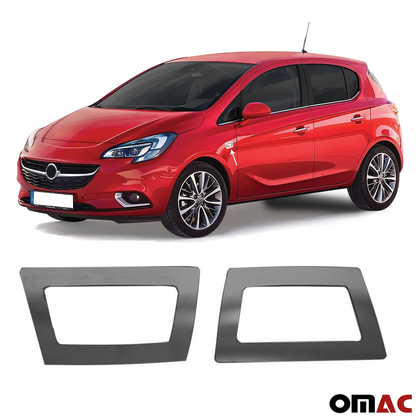 Fits Opel Corsa 2015-2019 Dark Chrome Side Indicator Frame Trim S.Steel 2 Pcs Omac Shop Usa - Auto Accessories