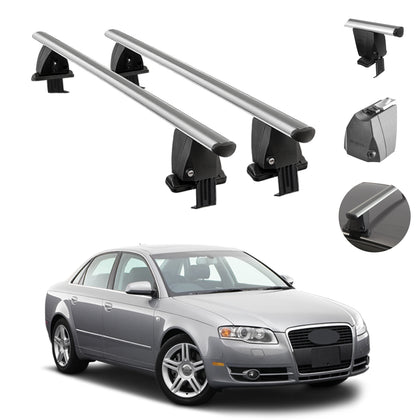 Silver Smooth Top Roof Rack Cross Bar Cargo Carrier For Audi A4 Sedan 2005-2008