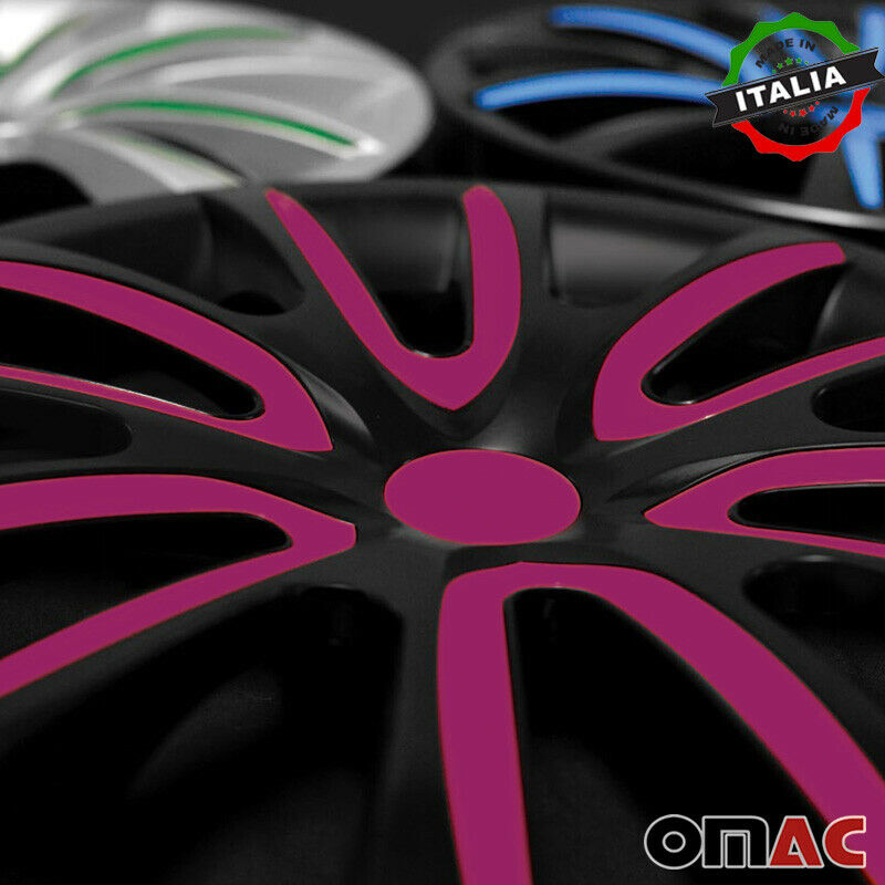 "16"" Inch Hubcaps Wheel Rim Cover Matt Black with Violet for Mitsubishi Outlander"