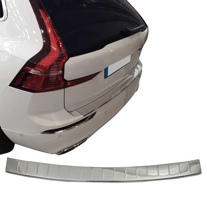 Fits Volvo XC60 2018-2020 Chrome Rear Bumper Guard Trunk Sill Protector S.Steel Omac Shop Usa - Auto Accessories