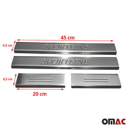 Fits Range Rover Sport 2014-2018 Chrome Door Sill Trim Guard SPORTLINE S.Steel Omac Shop Usa - Auto Accessories