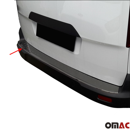 Fits Ford Transit Connect 2014-2020 Chrome Rear Bumper Trunk Sill Cover S.Steel Omac Shop Usa - Auto Accessories