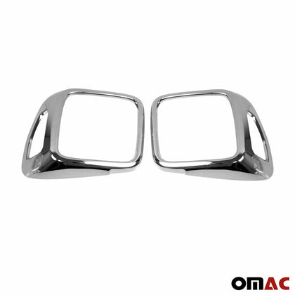 Chrome Brake Stop Light Surround Bezel Trim 2 Pcs for JEEP Renegade 2015-2020 Omac Shop Usa - Auto Accessories