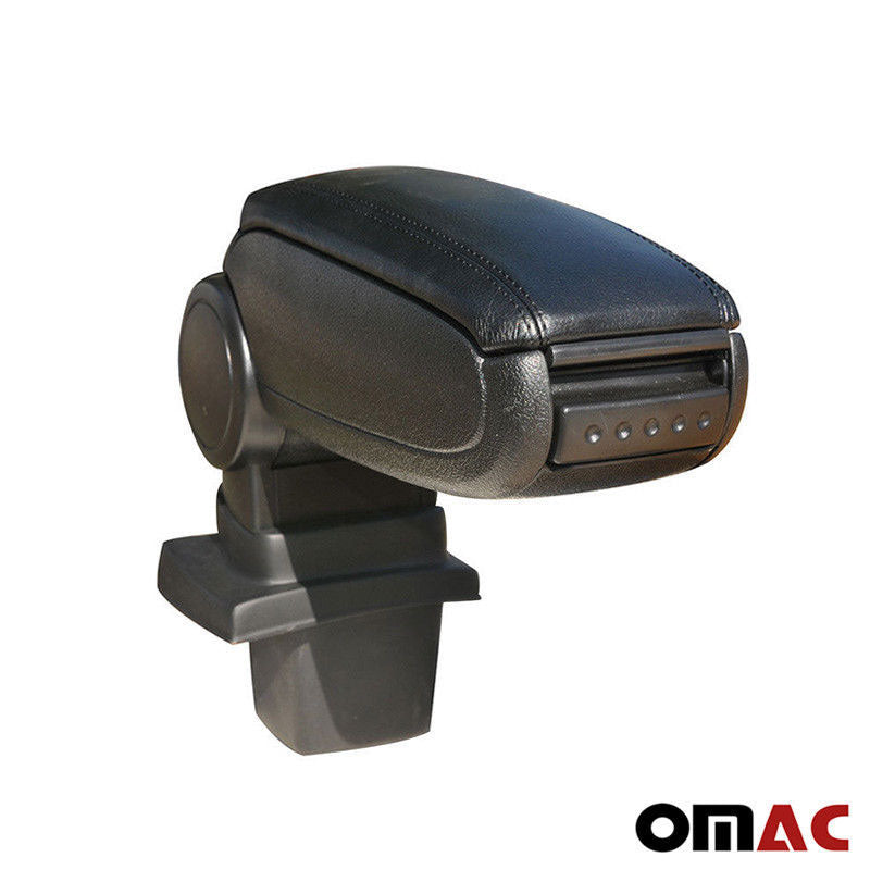 Black Leather Center Console Storage Armrest For Opel Astra 1998-2004