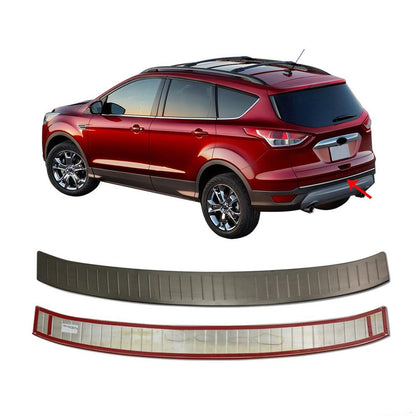 Fits Ford Escape 2013-2019 Dark Rear Bumper Guard Trunk Sill Brushed Protector