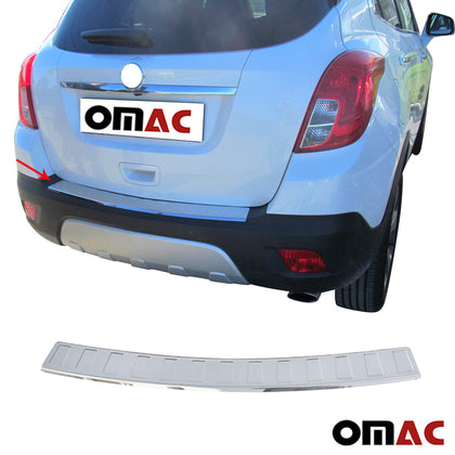Fits Chevy Trax 2015-2016 Chrome Rear Bumper Guard Trunk Sill Protector S.Steel Omac Shop Usa - Auto Accessories