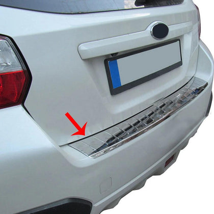 Fits Subaru XV 2013-2015 Chrome Rear Bumper Guard Trunk Sill Protector S.Steel Omac Shop Usa - Auto Accessories