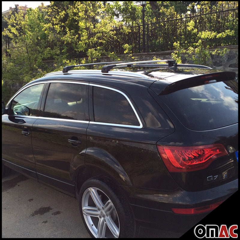 AUDI Q7 4L 2006-2015 Roof Racks Cross Bars Cross Rails Alu. SILVER SET 2 Pcs.