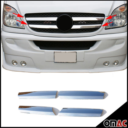 Omac usa - MERCEDES SPRINTER W906 2006-2013 Chrome Front Bumper Grille Cover 4 Pcs Steel - Omac Shop Usa - Auto Accessories