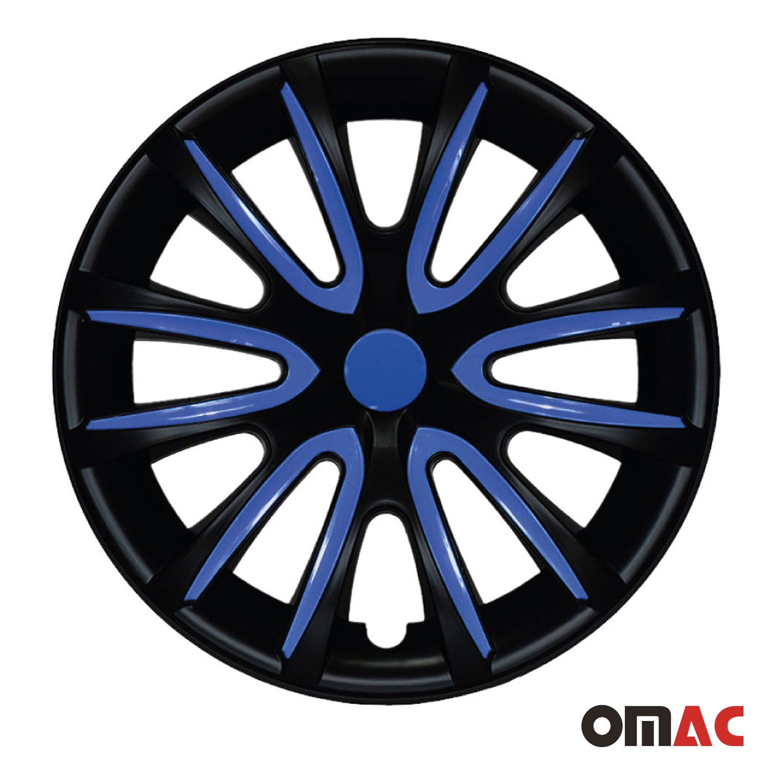 "16"" Inch Hubcaps Wheel Rim Cover Matt Black with Dark Blue for Nissan Versa Set"