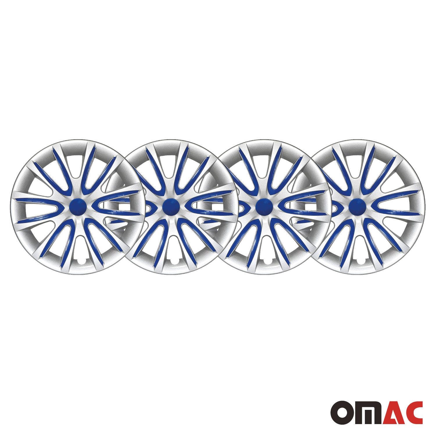 "16"" Inch Hubcaps Wheel Rim Cover Gray & Dark Blue For Honda Accord 4pcs Set"