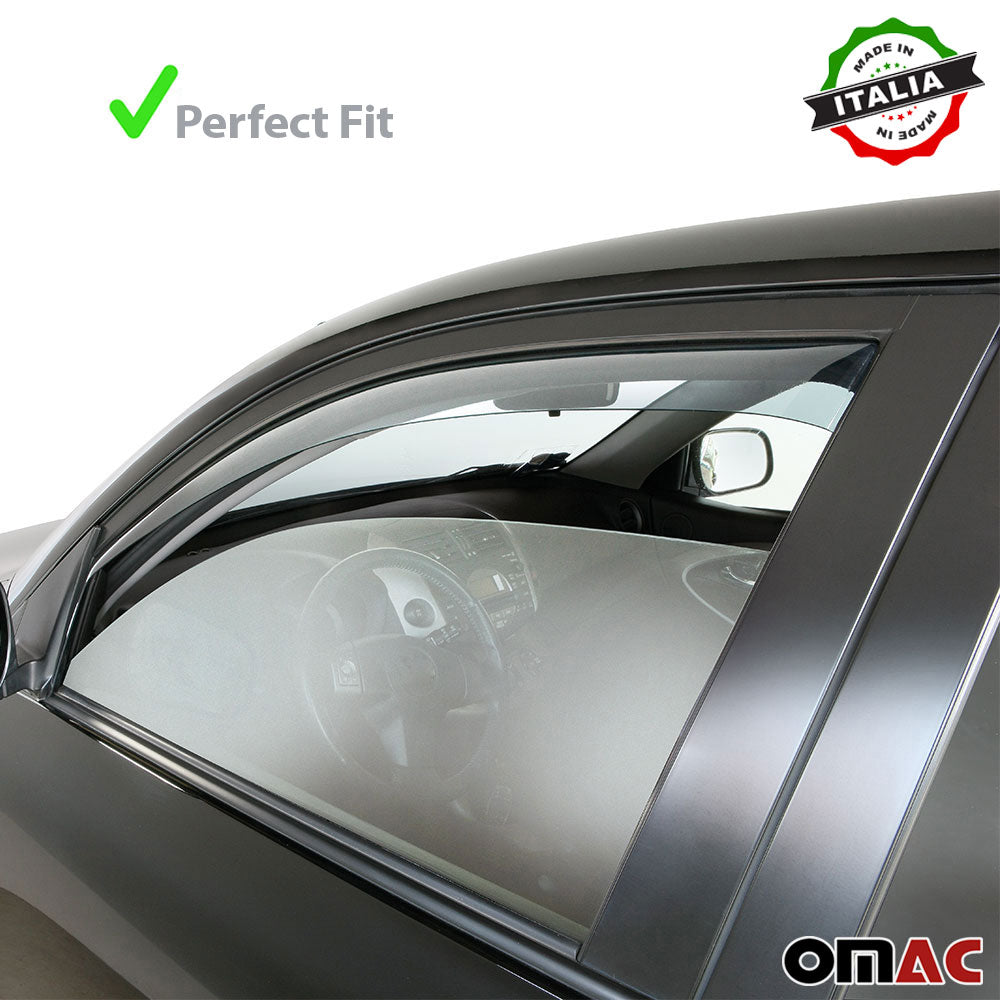 Window Visor Vent Sun Shade Rain Guard 4pcs Fits BMW X1 F48 2015-