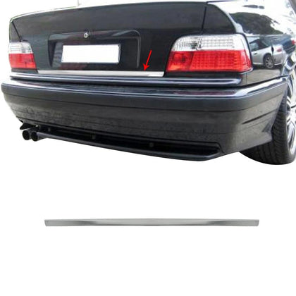Fits BMW 3 Series E36 1992-1999 Chrome Trunk Door Lower Trim Edge Protector Omac Shop Usa - Auto Accessories