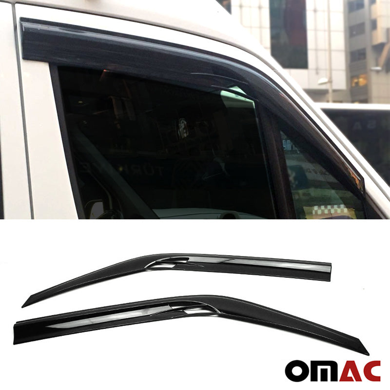 Side Windows Rain Sun Wind Deflector Guard For Dodge MB Sprinter W906 2007- 2018