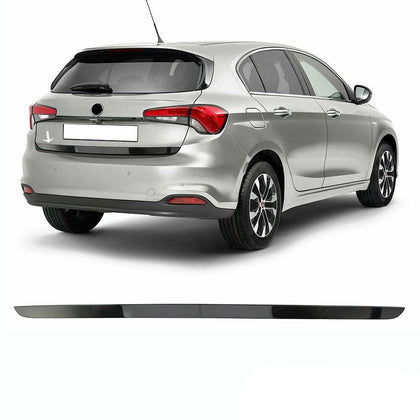 Dark Chrome Rear Lower Tailgate Trunk Door Trim for Fiat Tipo 2016-2020
