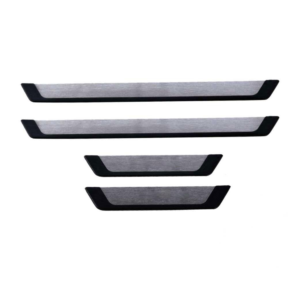 For Ford Kuga 2013-2019 Chrome Door Sill Cover Scuff Plate Brushed S.Steel 4 Pcs