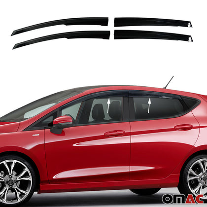 Window Visor Vent Sun Shade Rain Guard 4pcs Fits Ford Fiesta 2010-2020