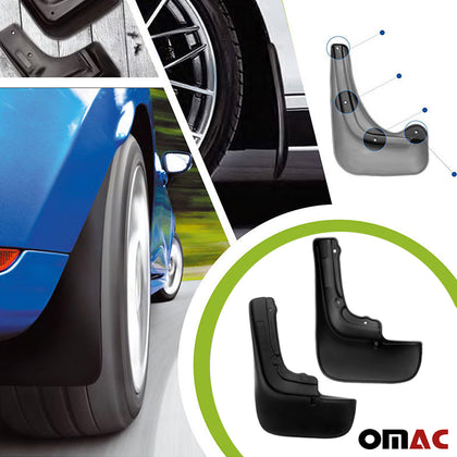 Omac usa - MAZDA 3 SD Rear Mud Flaps Molded Black Splash Guards Protect 2 pcs 2011-2013 - Omac Shop Usa - Auto Accessories