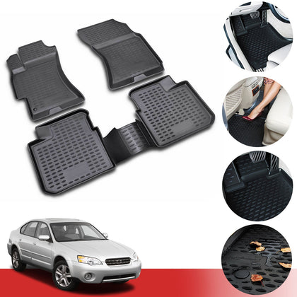 Floor Mats Liner 3D Molded Black Fits Subaru Outback Wagon 2005-2009
