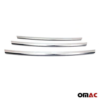 Chrome Front Bumper Grille Cover Trim S. Steel for Hyundai Veloster 2011-2017 Omac Shop Usa - Auto Accessories