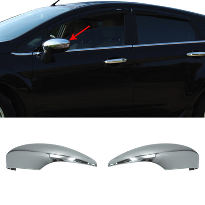 Fits Ford Fiesta 2011-2019 Chrome Side Mirror Cover Cap Protector 2 Pcs - Omac Shop Usa - Auto Accessories