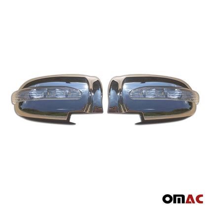Fits Hyundai Sonata 2002-2005 Chrome Side Mirror Cover Cap W/ Signal Light 2 Pcs Omac Shop Usa - Auto Accessories