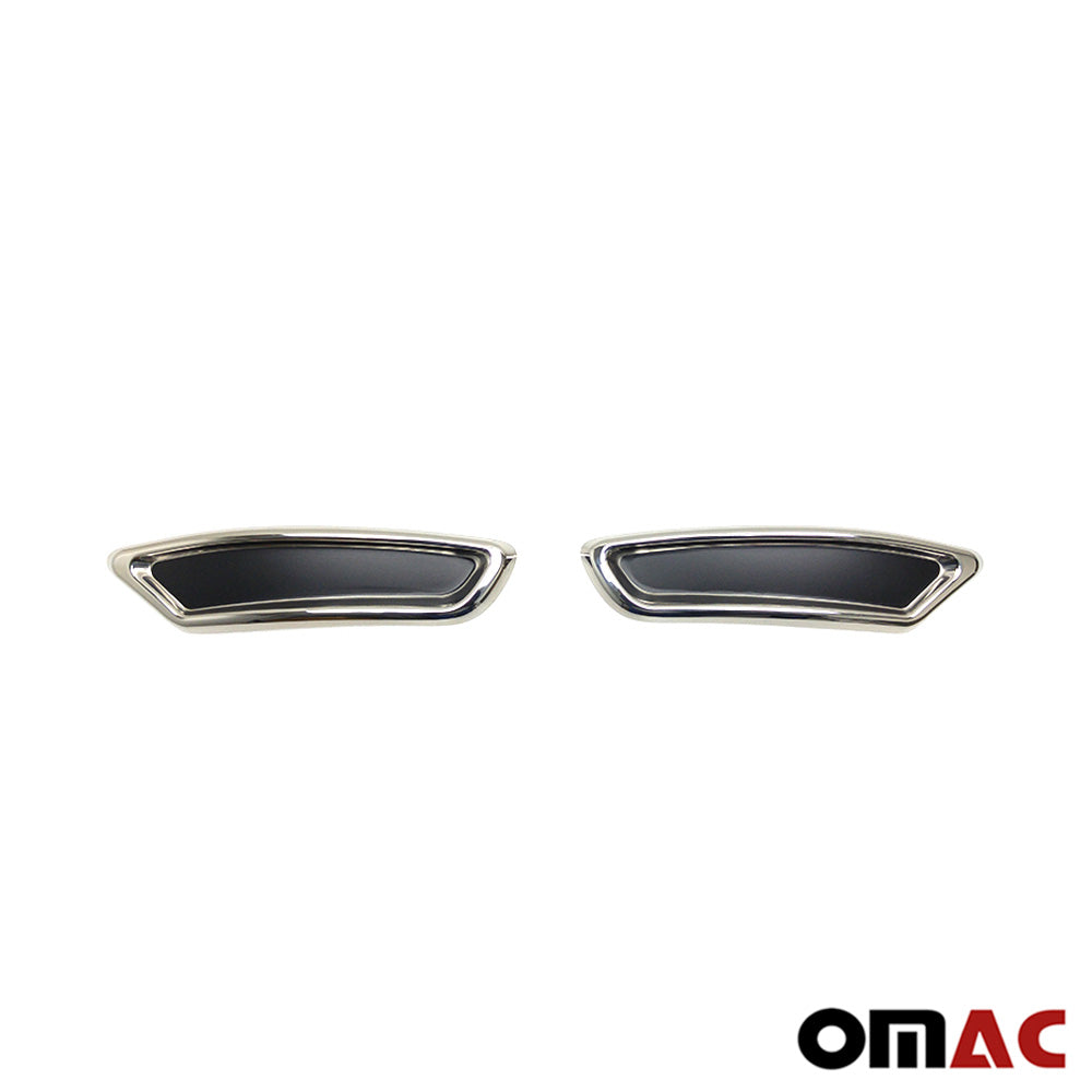 Fits VW Passat R-Line B8 2016-2018 Chrome Exhaust Tip Frame Trim Stainless Steel