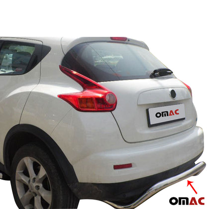 Rear Bumper Guard Protector Chrome Bar S. Steel for Nissan Juke 2011-2014