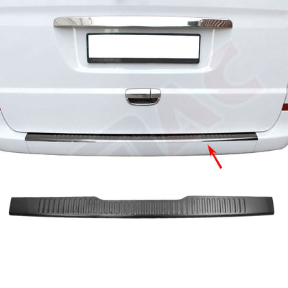 Dark Brushed Chrome Norm Rear Bumper Trunk Sill Cover For MB Vito W639 2003-2014