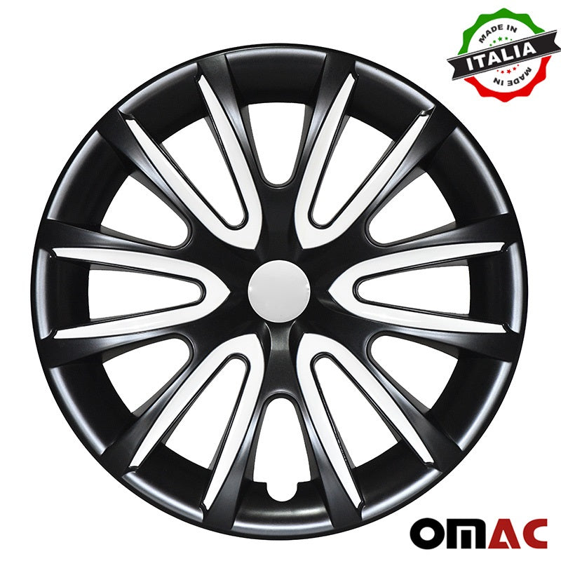 "16"" Inch Hub Cap Wheel Rim Cover Black & White for GMC Yukon 4pcs Set"