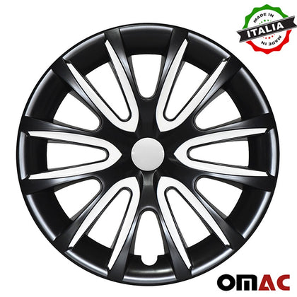 16 Inch Hubcaps Wheel Rim Cover Glossy Black with White for Kia Optima  4pcs Set