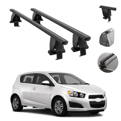 Fits Chevrolet Sonic Hatchback 2012-2016 Smooth Roof Rack Cross Bar Carrier Rail