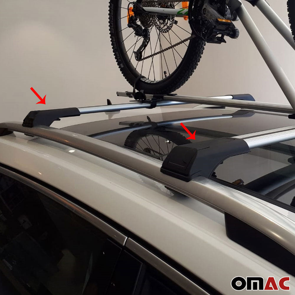 Roof Rack Cross Bars Luggage Carrier Silver Alu For VW