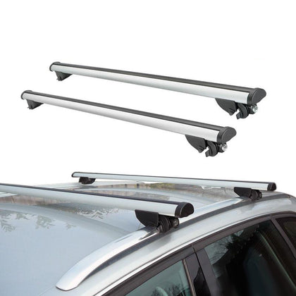 Roof Rack Cross Bars Luggage Carrier Silver Alu Set for Audi Q7 2007-2015