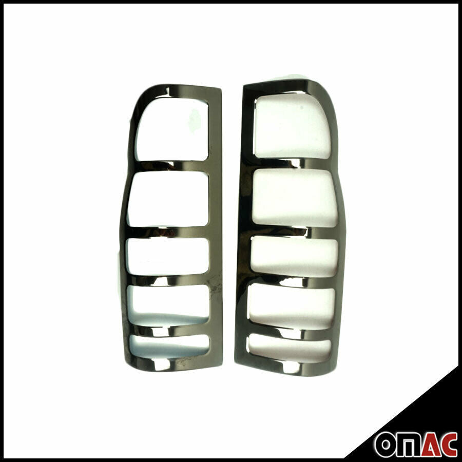Dark Chrome Stop Brake Light Frame 2 Pcs For Ford Transit 2000-2014