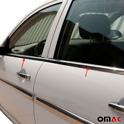 Fits Hyundai Accent 2006-2011 Chrome Window Trim Overlay Frame Stainless 4 Pcs Omac Shop Usa - Auto Accessories
