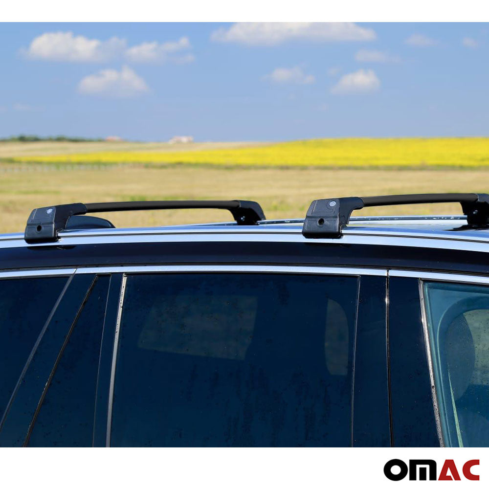Roof Rack Cross Bars Luggage Carrier Black for Audi Q5 SQ5 2009-2017