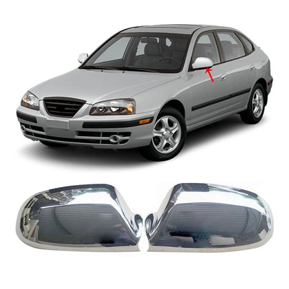 Fits Hyundai Elantra 2000-2006 Chrome Side Mirror Cover Protector Cap 2 Pcs Omac Shop Usa - Auto Accessories