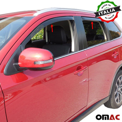 Omac usa - Side Window Smoke Vent Visor Rain Guard Deflector for MITSUBISHI OUTLANDER 2013- - Omac Shop Usa - Auto Accessories