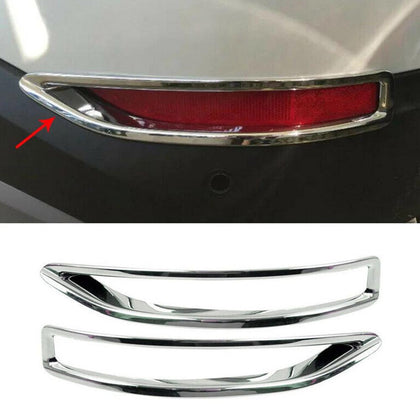 Fits BMW X1 2016-2019 Chrome Rear Reflector Light Frame Trim Left Right 2 Pcs Omac Shop Usa - Auto Accessories