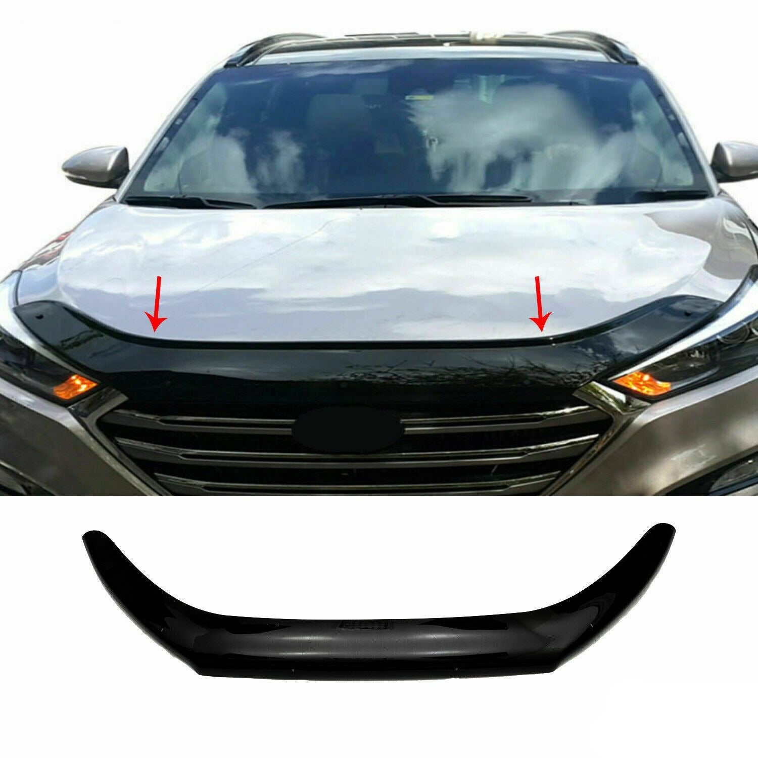Front Bug Shield Hood Deflector Guard for Hyundai Tucson 2016-2020