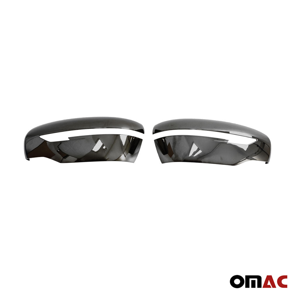Fits Nissan Murano 2015-2021 Dark Chrome Side Mirror Cover Cap 2 Pcs