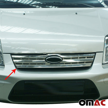Fits Ford Transit Connect 2010-2013 Chrome Front Grill Trim Stainless Steel Omac Shop Usa - Auto Accessories