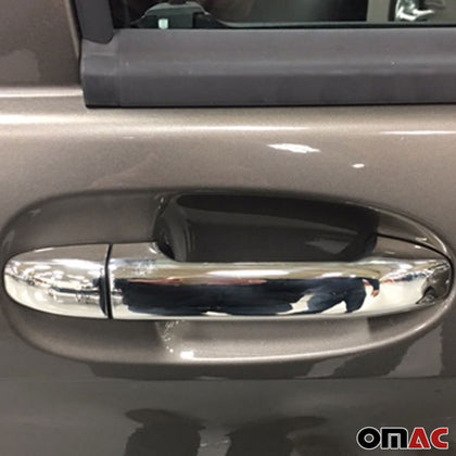 Fits Mercedes Vito Metris W447 Chrome Door Handle Cover S.Steel 4 Door Keyless Omac Shop Usa - Auto Accessories