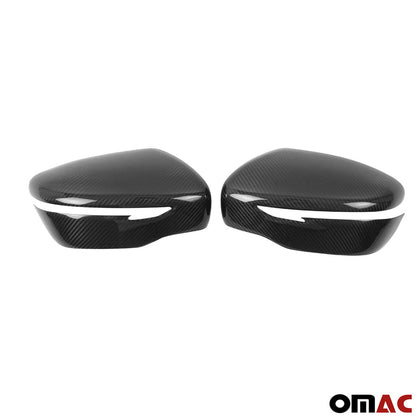 For Nissan Rogue Sport 2017-2020 Genuine Carbon Fiber Side Mirror Cover Cap 2 Pc