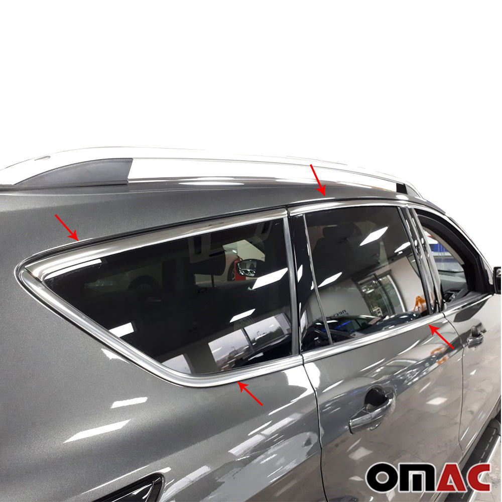 For Ford Escape Kuga 2013-2019 Chrome Window All Frame Overlay Cover Trim Steel