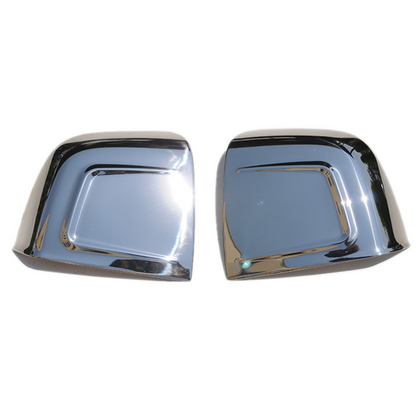 For Fiat Doblo 2010-2020 Chrome Side Mirror Cover Caps 2 Pcs Stainless Steel