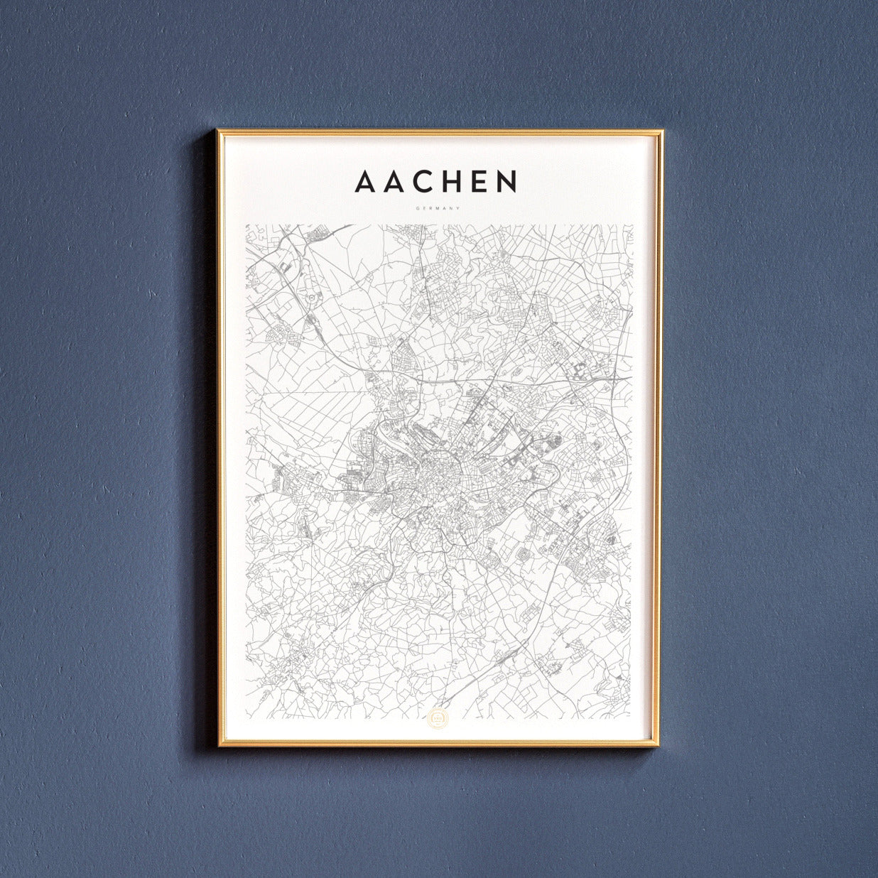 Map poster of Aachen, Germany