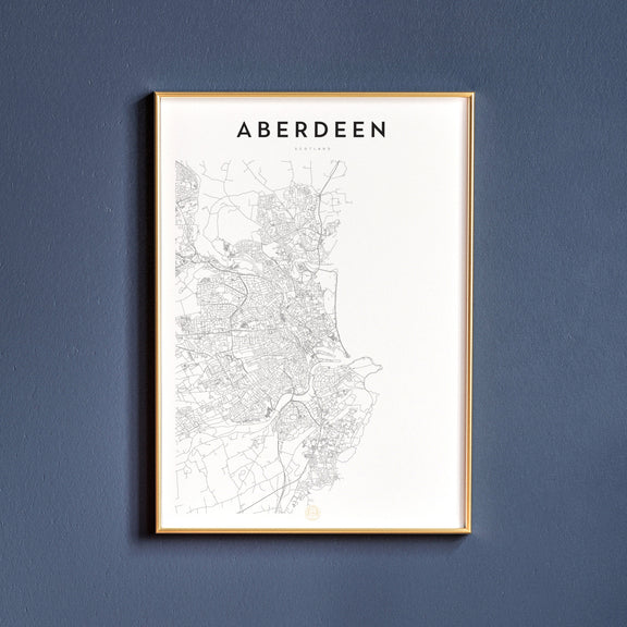 Aberdeen, Scotland map poster