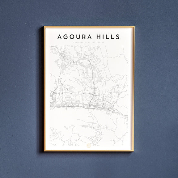 Agoura Hills, California map poster